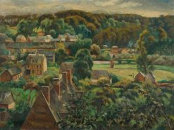 Village in the Valley | Roger Eliot Fry | Oil Painting