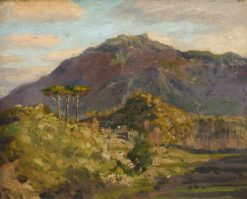 Hilltop with Trees in the Foreground | Bernard Sickert | Oil Painting