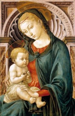 Madonna and Child with a Swallow | Pesellino | Oil Painting