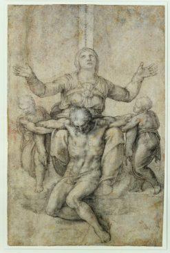 Pieta for Vittoria Colonna | Michelangelo | Oil Painting