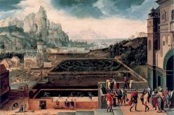 Landscape with David and Bathsheba | Herri met de Bles | Oil Painting