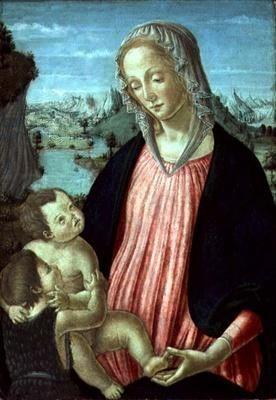 Madonna and Child with Saint John Baptist | Francesco Botticini | Oil Painting