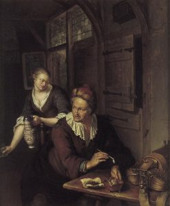 Interior with a Man and a Woman | Willem van Mieris | Oil Painting