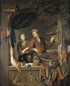 The Poultry Shop | Willem van Mieris | Oil Painting