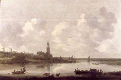View of the Rhine near Rhenen | Jan van Goyen | Oil Painting