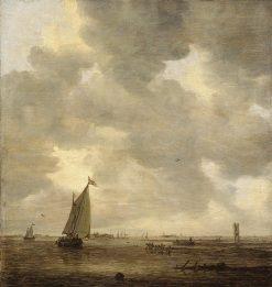 View of the Merwede near Dordrecht | Jan van Goyen | Oil Painting