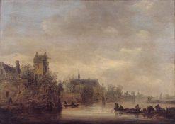 Ruined Town on a River   Jan van Goyen   Oil Painting