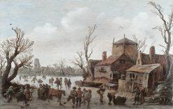 Village in Winter | Jan van Goyen | Oil Painting