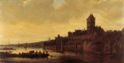 View of the Valkhof in Nijmegen | Jan van Goyen | Oil Painting