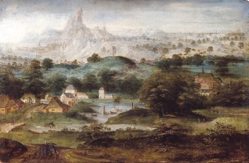 Landscape with Hagar | Herri met de Bles | Oil Painting