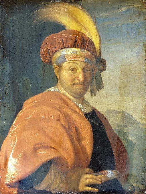 Man in an Oriental Costume   Frans van Mieris the Elder   Oil Painting