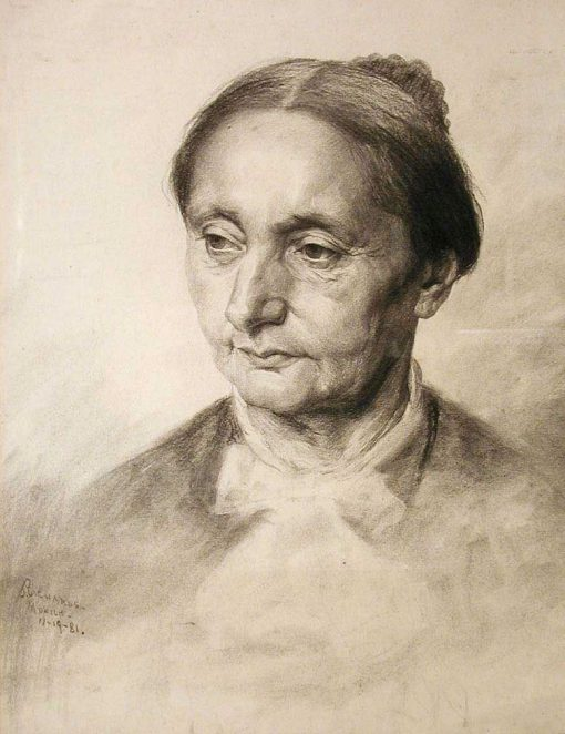 Study Head(also known as Woman with Her Hair in a Bun)   Samuel Richards   Oil Painting