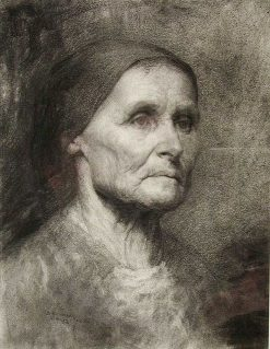 Study Head(also known as Head of an Old Woman) | Samuel Richards | Oil Painting