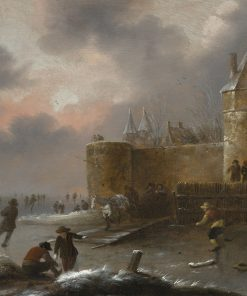 Winter Landscape with Skaters | Klaes Molenaer | Oil Painting