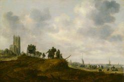 The Old Church at Egmond aan Zee   Jan van Goyen   Oil Painting
