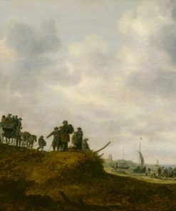The Old Church at Egmond aan Zee | Jan van Goyen | Oil Painting