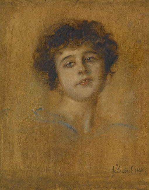 Portrait of a Young Woman | Franz von Lenbach | Oil Painting