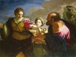 Rebecca and Eliezer at the Well   Carlo Maratta   Oil Painting