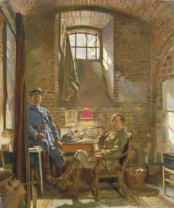 In Their Cellar in Amiens(also known as Captain R Maude and Colonel Du Tiel) | Sir William Orpen | Oil Painting
