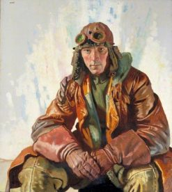 The Non-Commissioned Officer Pilot: Flight Sargeant W G Bennett | Sir William Orpen | Oil Painting