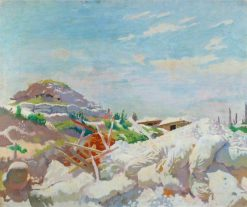 The Gunner's Sheter at Thiepval | Sir William Orpen | Oil Painting