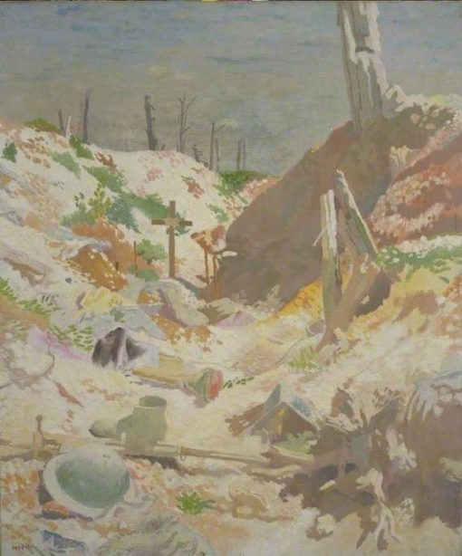 A Grave in a Trench   Sir William Orpen   Oil Painting