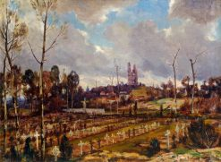 The Cemetery at Mont St Eloi | Herbert Hughes Stanton | Oil Painting