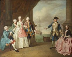 The Hon. Mrs Constantine Phipps Being Led to Greet Her Brother Captain the Hon. Augustus Hervey | Francis Hayman | Oil Painting