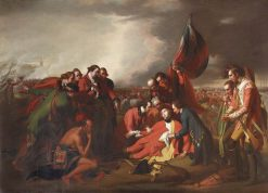 The Death of General James Wolfe (1727-1759) | Benjamin West | Oil Painting