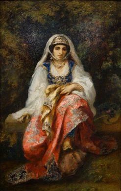 Oriental Woman   Narcisse Dìaz de la Peña   Oil Painting