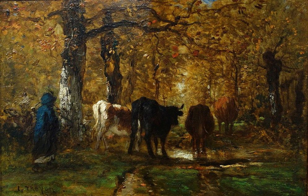 Cowherd in a Forest | Constant Troyon | Oil Painting