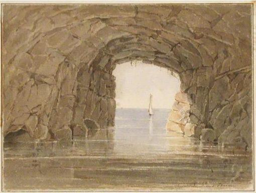 Cavern on Lake Superior | Seth Eastman | Oil Painting