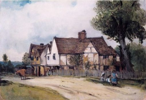 Landscape with Village House | Frederick Waters Watts | Oil Painting
