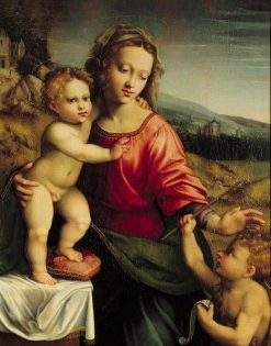 Madonna and Child with Saint John | Francesco Granacci | Oil Painting