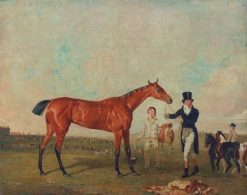 Shoveller Held by Her Trainer Will Chifney | Benjamin Marshall | Oil Painting