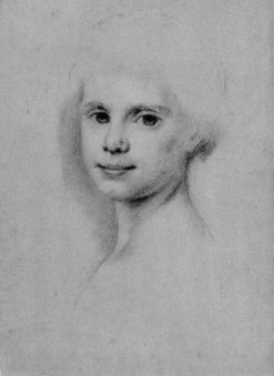 Bust Study of a Young Girl   Allan Ramsay   Oil Painting