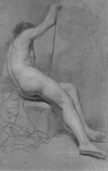 Seated Nude with Staff | Allan Ramsay | Oil Painting