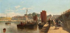 Port Glasgow Harbour | Samuel Bough | Oil Painting