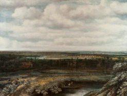 Landscape in Holland   Philips Koninck   Oil Painting