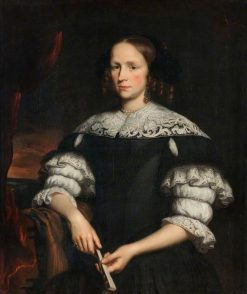 Portrait of a Woman with a Fan | Nicolaes Maes | Oil Painting