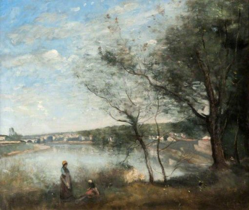 Distant View of Corbeil | Jean Baptiste Camille Corot | Oil Painting