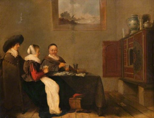 Interior with Card Players | Hendrik Martensz. Sorgh | Oil Painting