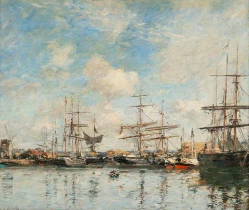 A French Harbour | Eugene Louis Boudin | Oil Painting
