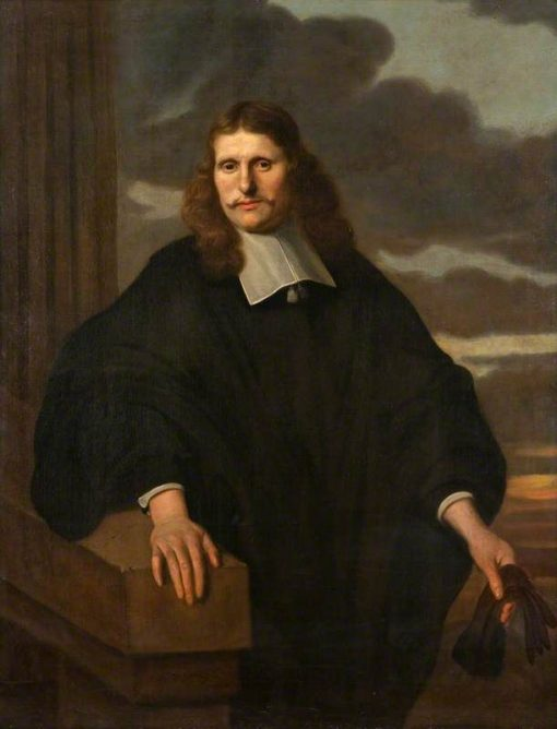 A Gentleman in an Academic Gown   Carel Dujardin   Oil Painting