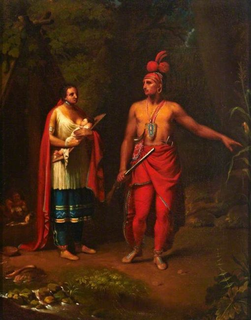 American Indian and Family | Benjamin West | Oil Painting