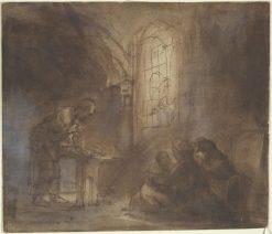Interior of Saint Joseph's House in Nazareth | Rembrandt van Rijn | Oil Painting