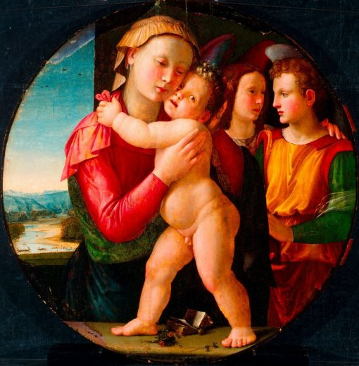 The Virgin and Child with Two Angels | Ridolfo Ghirlandaio | Oil Painting