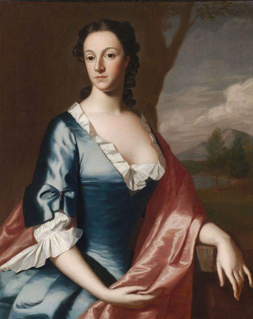 Susannah Speakman Inman (Mrs. Ralph Inman) (1727-1761)   Robert Feke   Oil Painting