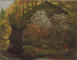 Watkins Glen; verso: Landscape | Thomas Cole | Oil Painting