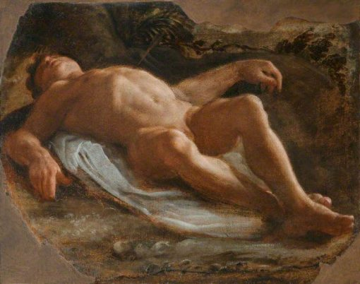 A Recumbent Male Nude | Annibale Carracci | Oil Painting